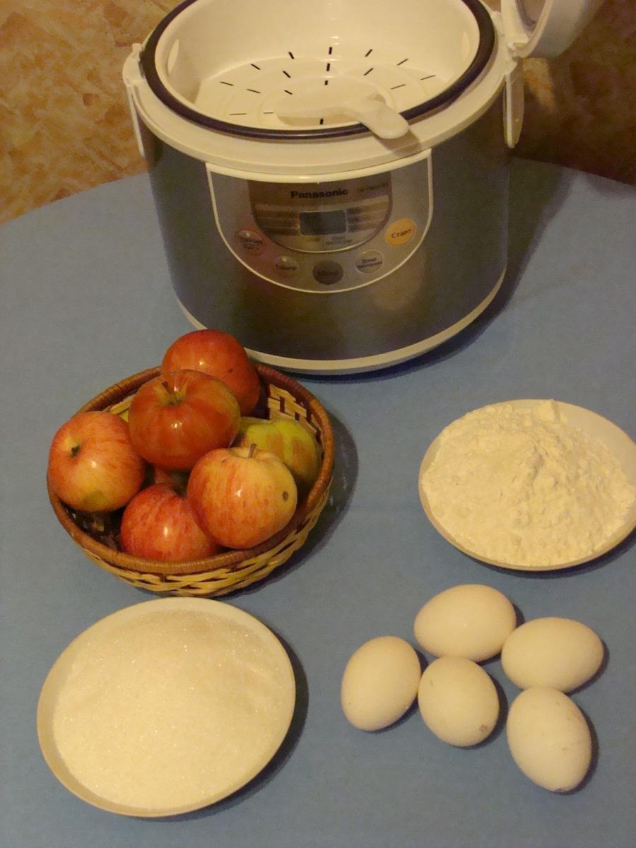 Для шарлотки с яблоками в мультиварке