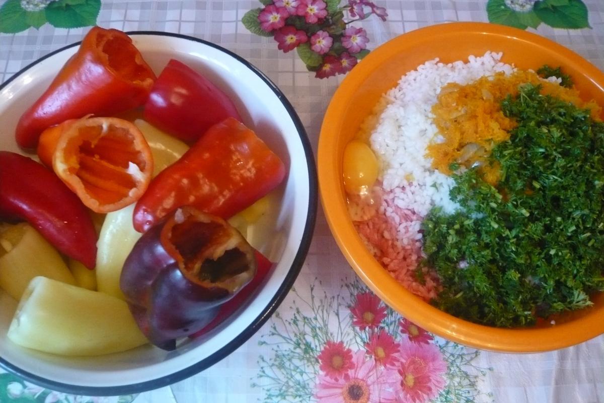 рецепт фаршированных перцев в мультиварке борк