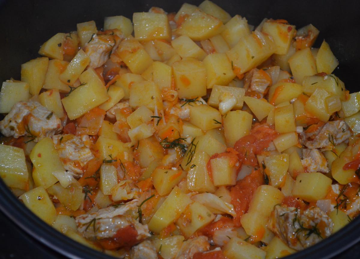Свинина тушеная с картошкой в мультиварке редмонд рецепты с фото