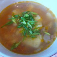 Фасолевый суп с тушёнкой в мультиварке