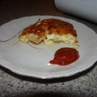 Фото рецепта: Омлет с курицей и луком в мультиварке Philips