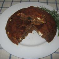 Ржаной хлеб с брынзой и маслинами в мультиварке