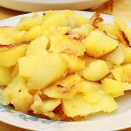 Жарено-печеная картошка в мультиварке
