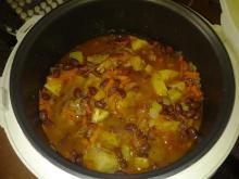 """Фото рецепта: """"Овощное рагу с картофелем и фасолью"""" в мультиварке"""