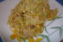 Рецепт капуста с рисом в мультиварке с мясом