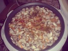 "Фото рецепта: ""Куриный суп с грибами"" в мультиварке Scarlett"