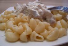 Рецепт для мультиварки - Макароны с куриным соусом в мультиварке