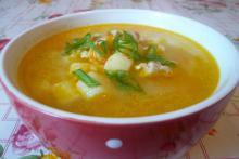 Рисовый суп с курицей в мультиварке