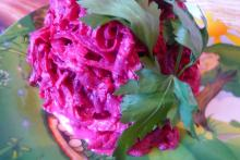 Фото рецепта: Салат из свёклы с чесноком