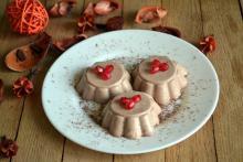 десерт шоколадная панна котта