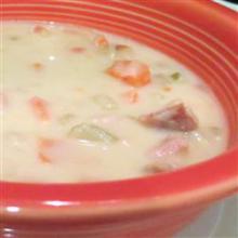 Картофельный суп с ветчиной