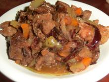 Фото рецепта: Свинина с черносливом в мультиварке Panasonic