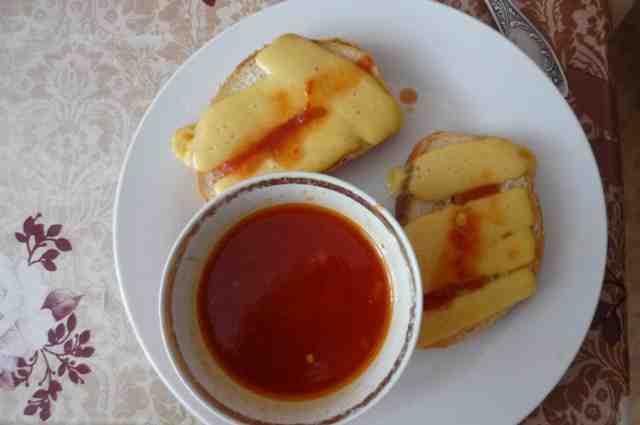 Бутерброд с сыром на завтрак – рецепт для мультиварки Vitek