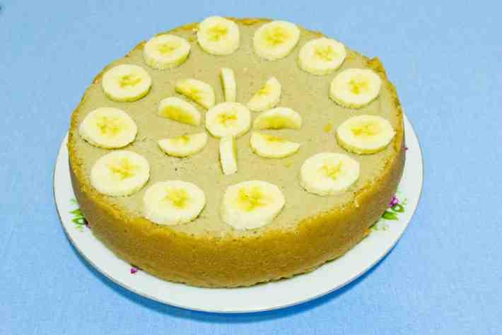 Рецепт для мультиварки Творожный Чизкейк с бананами