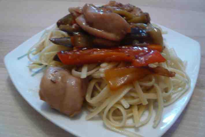 "Рецепт для мультиварки - Курица с овощами в соусе ""Терияки"""