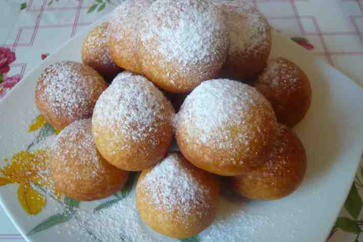 Пончики из творога в мультиварке