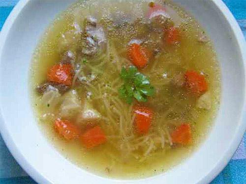 Суп с лапшой и свининой рецепт с пошагово